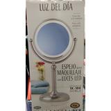 Espejo Doble Con Luz Para Maquillaje Normal Y Aumento10x