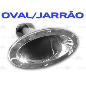 Corneta Jarrão Oval Fiamon 1400 - Plástica - Cromada