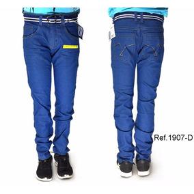 Calça Jeans Masculina Juvenil Slin Fit Confort Ref.1907-d