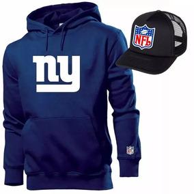 Blusa Moleton New York Giants + Boné Nfl Mega Promoção