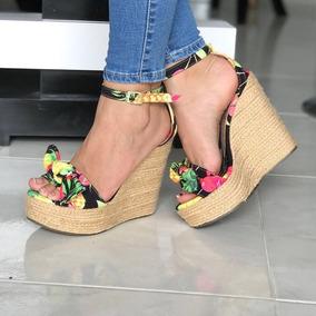 Zapatos Dama Plataforma Estampados