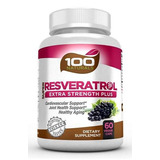 100 Naturals Super Resveratrol 1200mg With Pomegranate,green