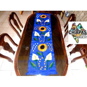 Hermosos Caminos De Mesa Bordados Por Artesanas De Chiapas