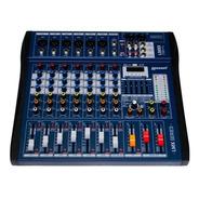 Mesa De Som 8 Canais Interface Pra Gravação Usb Lexsen Lmx08