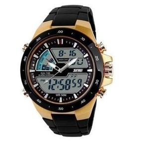 Relógio Masculino Skmei Digital Wr50m Dourado