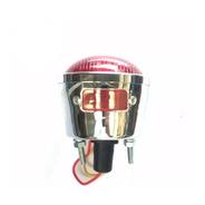 Lanterna Traseira Cromada Com Vigia P/ Moto Chopper