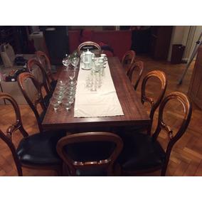 Mesa De Comedor Antiguo Reina Ana De 175x80 Exten. A 2,25m