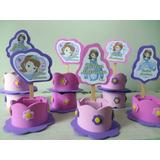 Princesa Sofia Kit 10 Lembrancinchas Ou Centro Enfeite Mesa
