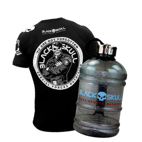 Camiseta Black Skull - Zero One Bodybuilder + Galão