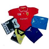 Kit 5 Polo Camisas Camisetas 1ao14 Infantil E Juvenil Menino
