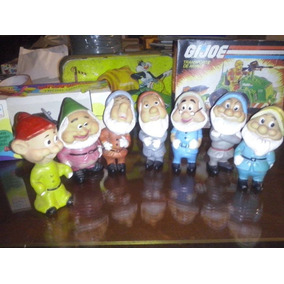 Muñecos Antiguos Los 7 Enanos Blancanieves Walt Disney