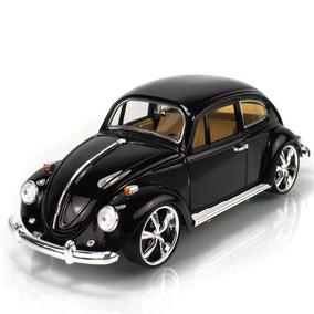 Miniatura Metal Volks Fusca Beetle 1967 Tunado Preto 1/18