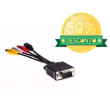 Cabo Adaptador Vga P/ Svideo 15 Pinos Placa Monitor P/ Tv