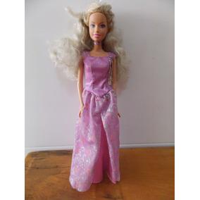 Barbie Antiga Mattel Indonésia 1999 Vestido De Festa