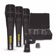 Microfone Skp Pro33k Kit Com 3 Mic + Maleta - Sound Store