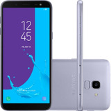 Smartphone Samsung Galaxy J6 Prata Tv Digital Hd 32gb Tela