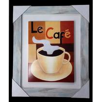 Cuadro Decorativo Vintage 25x30cm Cafe 5 Taza - Sheshu