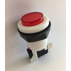 Botón Rojo Para Maquinita O Rockola