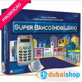 Super Banco Imobiliário C/ Maquina De Cartão De Crédito Imp.
