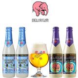 Kit Da Cerveja Belga Delirium Com 4 Cervejas E 1 Taça