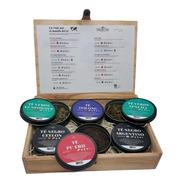 Caja Madera Delhi Tea Collection 6 Latas - Tés Puros