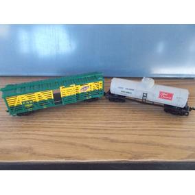 2 Vagones De Carga Tren Bachmann Juguete A Escala #835