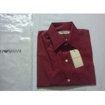 Camisa Emporio Armani Made In Italy S Original 100% Algodon