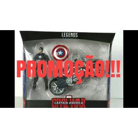 Capitão America Com Moto , Marvel Legends Original Hasbro