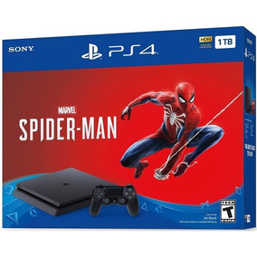Console Sony Playstation 4 Slim 1tb Hdr + Jogo Spider-man