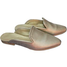 Zapatos Nuevos De Mujer Moda Sueco Slipper Sim Cuero 5 Al 44