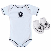 Kit 2 Peças Torcida Baby Botafogo Menina Body - 6 A 8 Meses
