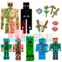 Set Muñecos Minecraft Figuras + Armas Y Accesorios - Envios