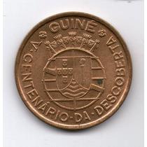 Guinea Portuguesa Moneda 1 Escudo 1946 Km#7 500 Años Descubr