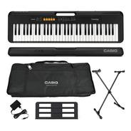Kit Teclado Casio Tone Ct-s100  Musical 61 Teclas Preto