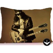 Almofada Slash Foto Com Enchimento Banda Rock Guns N Roses 1