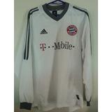 Camiseta Bayern Munchen 2002 L Manga Larga adidas Alemania