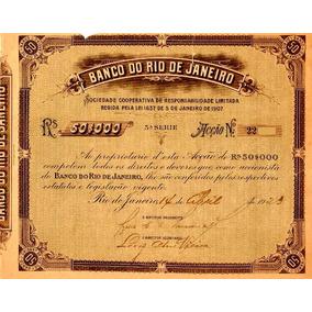 Título (ação) 1923 Do Banco Do Rio De Janeiro Raro.