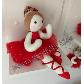 Boneca De Pano Bailarina (45cm), 100% Artesanal