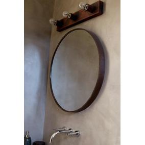 Espejo redondo hierro espejos en mercado libre argentina for Espejo redondo con marco