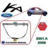 01-08 Ford Ka Elevador Manual Vidrio Lado Derecho