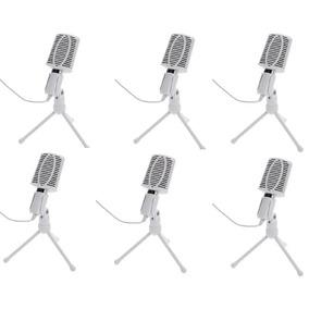 6 Microfonos Para Pc Con Tripode Plug 3,5mm Envio Gratis