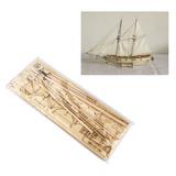 Vela Barco De Madera Modelo Equipo 1/100 Hobby Halcon 1840 V