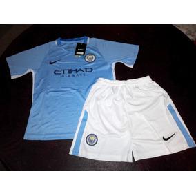 Conjunto Niños Manchester City Titular 2018 Original Nike