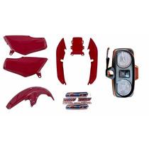 Kit Plásticos Carenagem Titan125 Cg125 97 Vermelho + Painel
