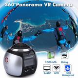Mini Câmera 360° 4k Ultra Hd Vídeos Fotos Aprova Dagua Vr