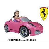 Carro / Carrito Para Niño Niña Ferrari Eléctrico Rosa