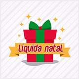 Adesivo Para Vitrine Natal Feliz Oferta Presente
