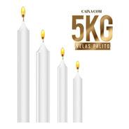 Vela Por Kilo Atacado - Cx 5kg - Branca - Vários Tamanhos