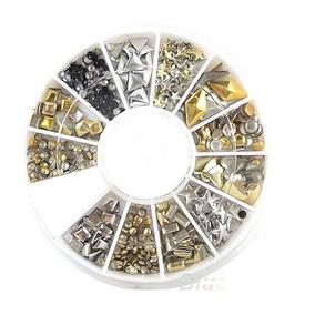 Carrete Piedras Metalico Accesorios Uñas Manicure Estilistas