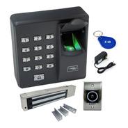 Kit Control Acceso Zkteco X7 + Electroiman + Boton + 10 Rfid